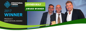 Structural timber awards Joyner bolt